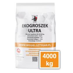 4 tony/4000 kg <br> EKOGROSZEK ULTRA  <br>WĘGIEL SZTYGAR  <br>28-27 MJ/kg