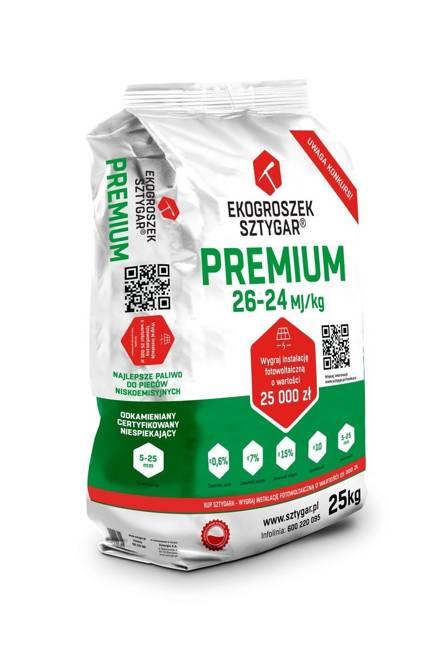 Ekogroszek Premium Sztygar® 20 worków po 25 kg