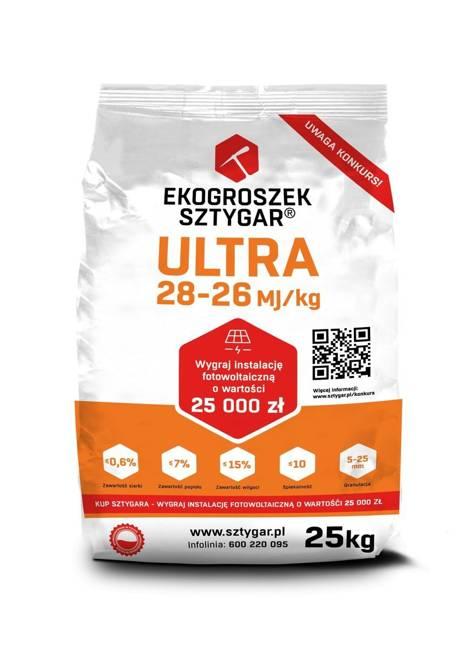 Ekogroszek Ultra Sztygar® 20 worków po 25 kg